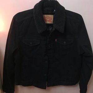 Levi's Sherpa Trucker black denim Jacket